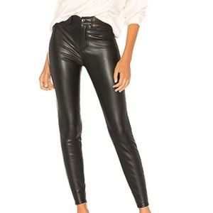 Free People Faux Leather Skinny High Rise  Pant
